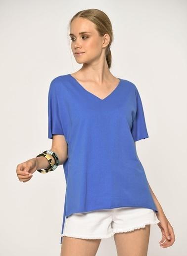 Loves You Lazer Kesim %100 Cotton T-Shirt Saks